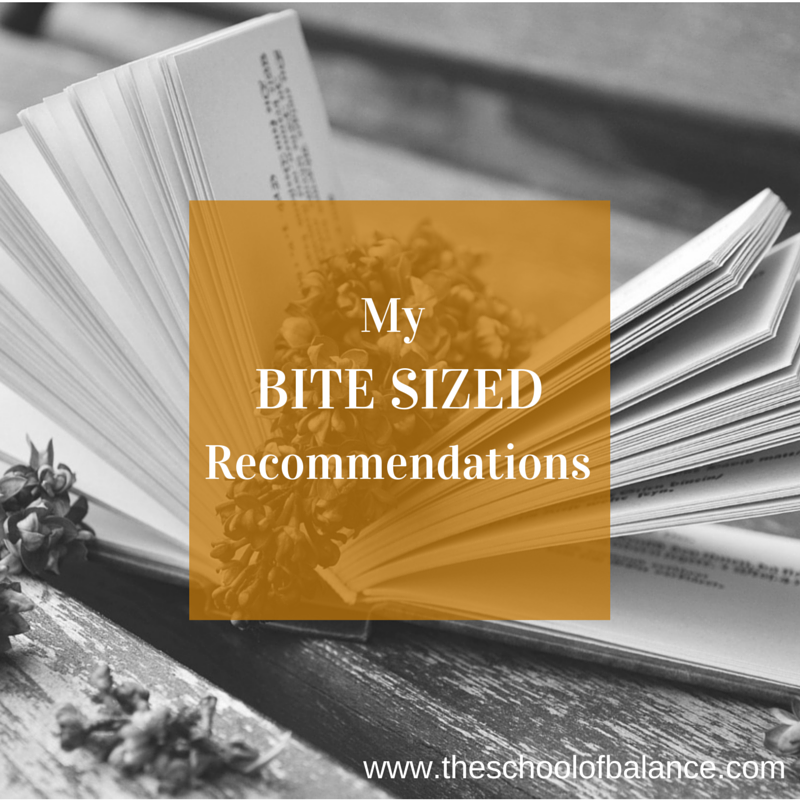 Bite sized recommendations blog