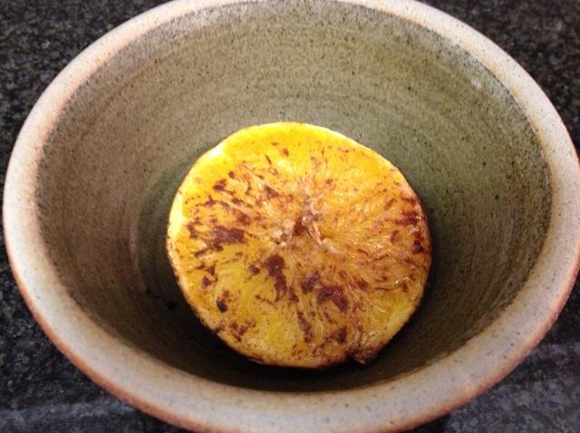 Foil baked oranges